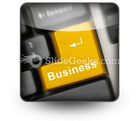 Business Computer Key PowerPoint Icon S