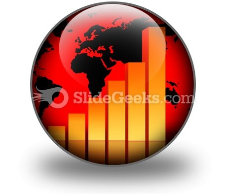 Business Data Graph PowerPoint Icon C