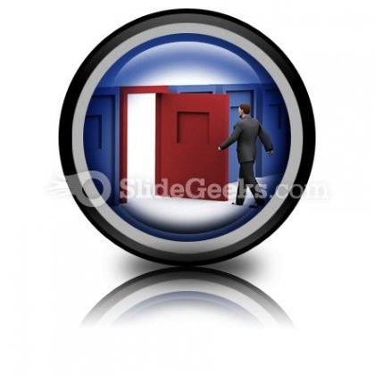 Business Decision PowerPoint Icon Cc