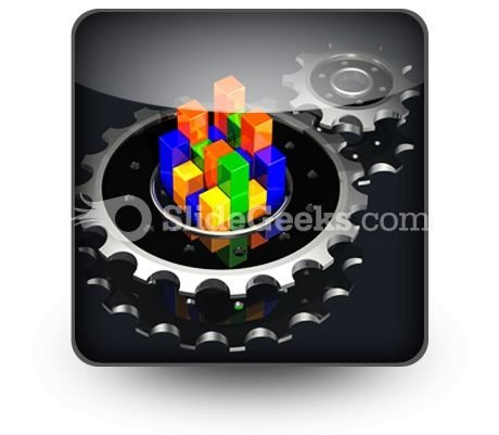 Business Graph Adjust PowerPoint Icon S