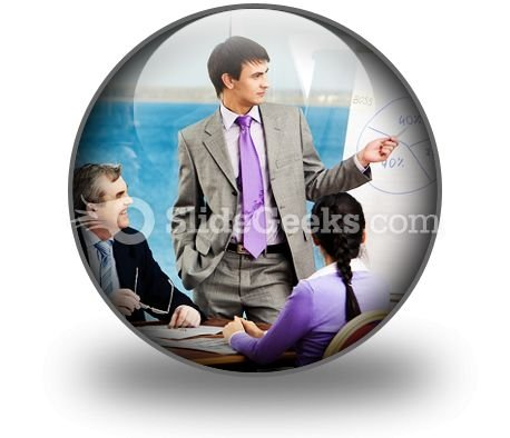 Business Group Listen PowerPoint Icon C