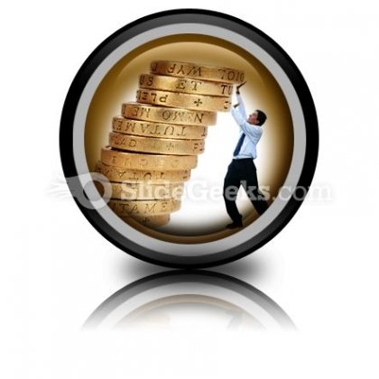 Business Growth Coins PowerPoint Icon Cc