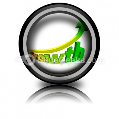 Business Growth PowerPoint Icon Cc