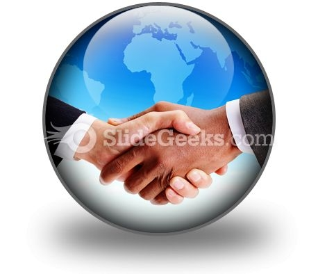 Business Handshake PowerPoint Icon C