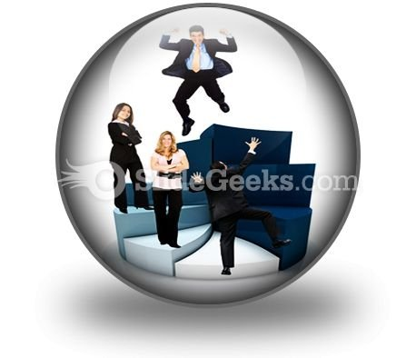 Business People On Pie Chart PowerPoint Icon C