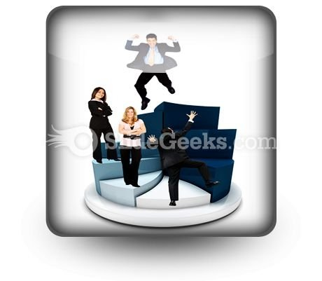 Business People On Pie Chart PowerPoint Icon S