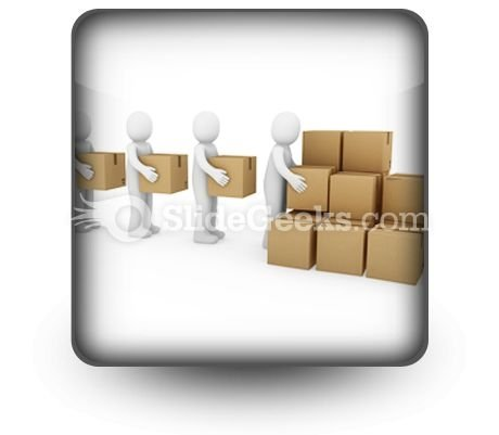 Carton Package Shipping PowerPoint Icon S