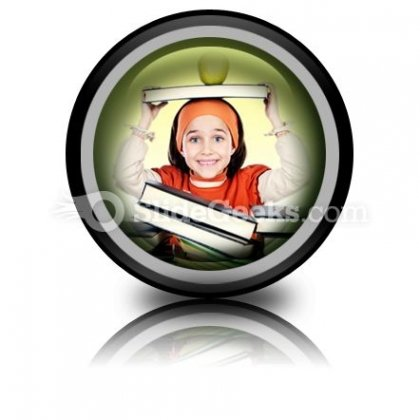 Child Girl Studying PowerPoint Icon Cc