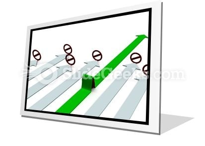 Choice Of Direction Movement PowerPoint Icon F