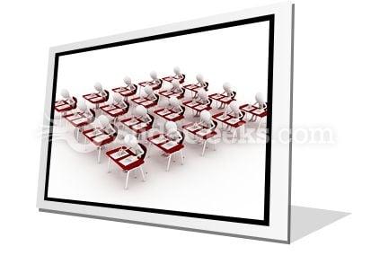 Classroom Exam Test PowerPoint Icon F