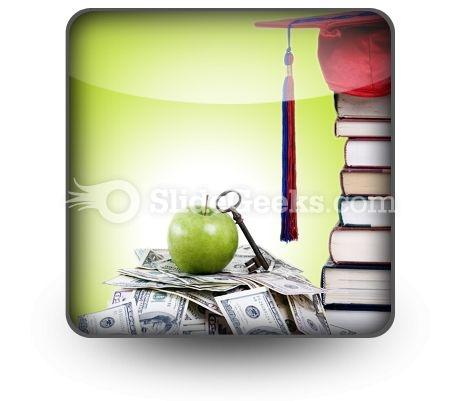 College Money PowerPoint Icon S