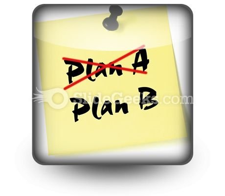 Crossing Out Plan A PowerPoint Icon S
