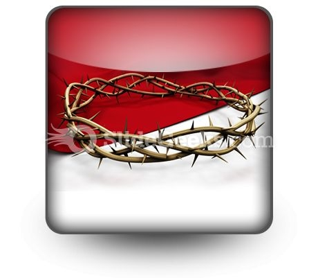 Crown Of Thorns Ppt Icon For Ppt Templates And Slides S