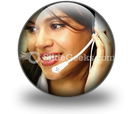 Customer Service Operator PowerPoint Icon C