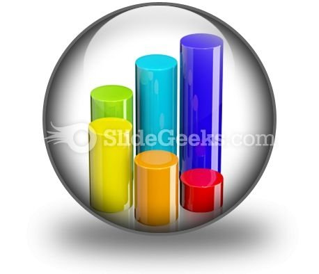 Cylindrical Bar Graph PowerPoint Icon C