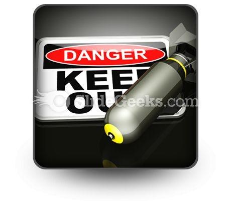 Dangerous Area PowerPoint Icon S