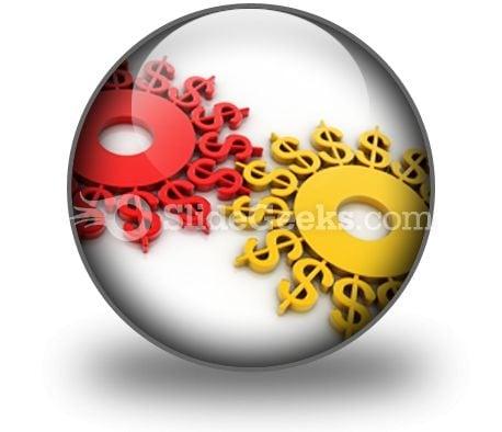 Digital Illustration Dollar PowerPoint Icon C