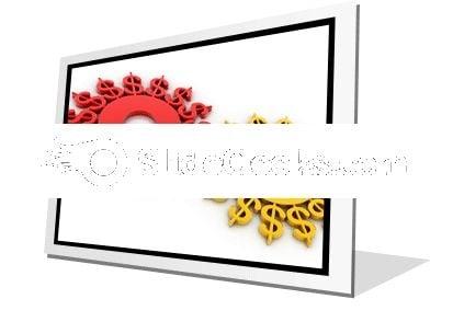 Digital Illustration Dollar PowerPoint Icon F