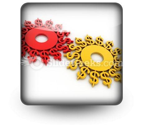 Digital Illustration Dollar PowerPoint Icon S