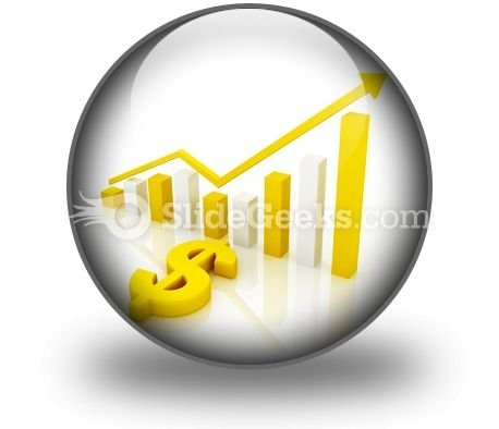 Dollar Graph PowerPoint Icon C