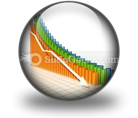 Down Arrow PowerPoint Icon