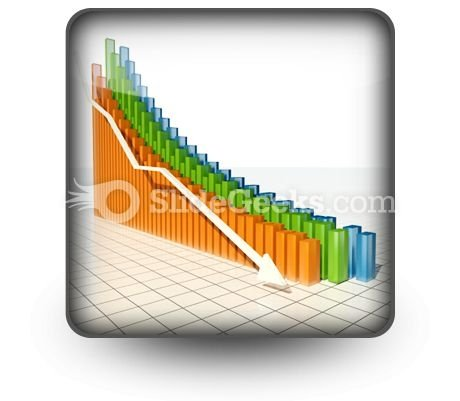Sales & Marketing PowerPoint Icon with Down Arrow