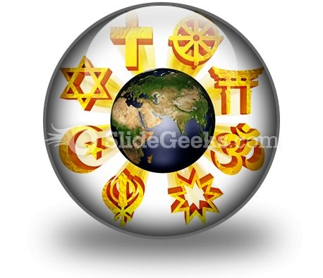 Earth Religious Symbols PowerPoint Icon C