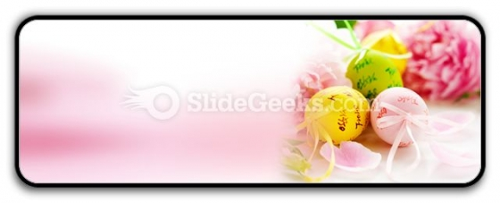 Easter Eggs And Spring Flowers PowerPoint Icon R