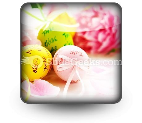 Easter Eggs And Spring Flowers PowerPoint Icon S