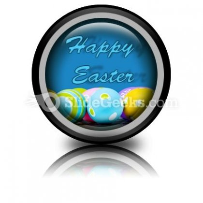 Easter Eggs PowerPoint Icon Cc