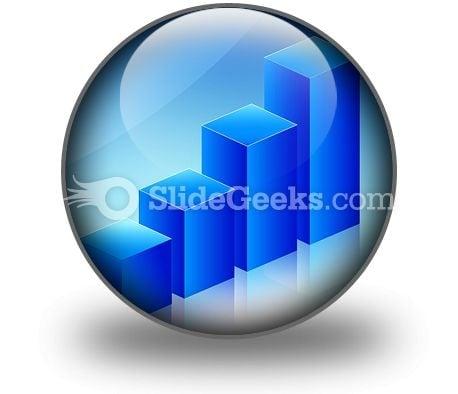 Economic Graph PowerPoint Icon C