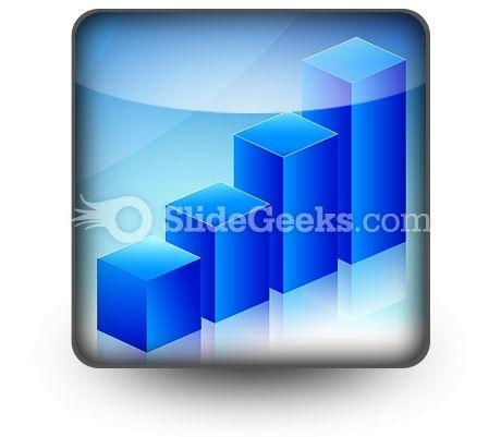 Economic Graph PowerPoint Icon S