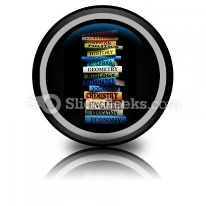 Education Study Books PowerPoint Icon Cc