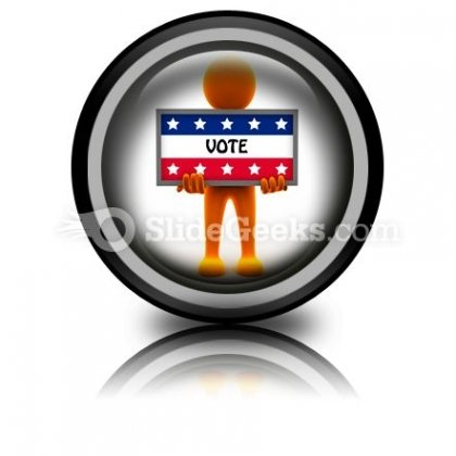 Election Time PowerPoint Icon Cc