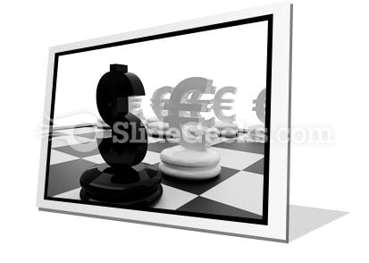 Euro And Dollar PowerPoint Icon F