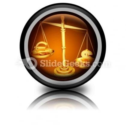 Euro Dollar Scale PowerPoint Icon Cc