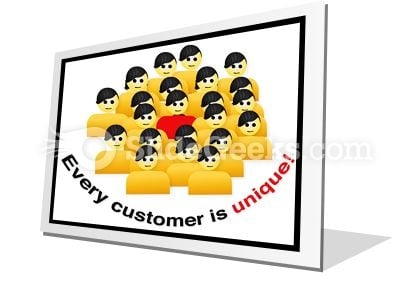 Every Customer Is Unique PowerPoint Icon F