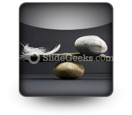 Feather Stone Balance PowerPoint Icon S