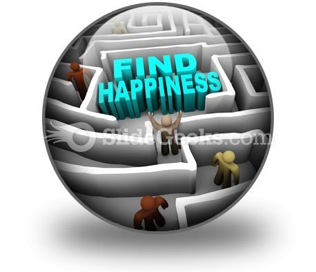 Find Happiness PowerPoint Icon C