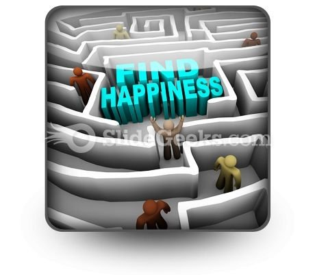 Find Happiness PowerPoint Icon S