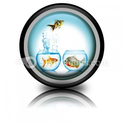 Fish Runs Away PowerPoint Icon Cc