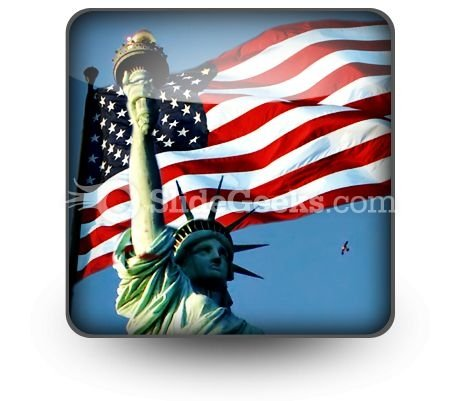 Flight To Liberty PowerPoint Icon S