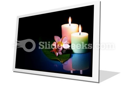 Frangipane Flower With Couple PowerPoint Icon F