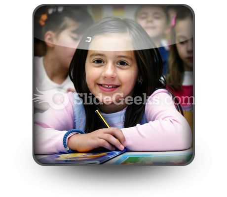 Girl Studying PowerPoint Icon S