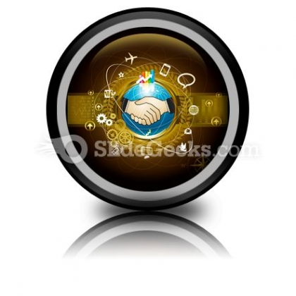 Global Business PowerPoint Icon Cc