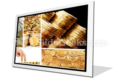 Gold And Old Coins PowerPoint Icon F