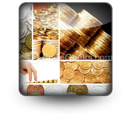 Gold And Old Coins PowerPoint Icon S