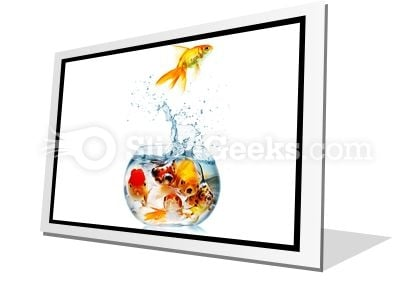 Gold Fish PowerPoint Icon F
