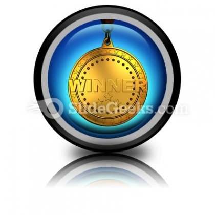 Gold Medal PowerPoint Icon Cc