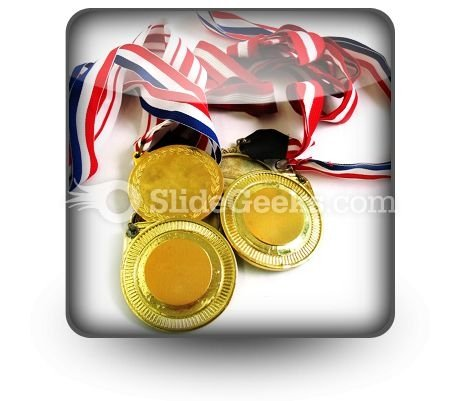 Gold Medals PowerPoint Icon S